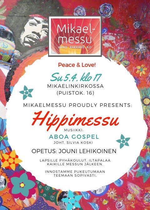 Hippimessu 5.4. klo 17,00
